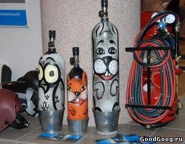 Изделия из газовых баллонов картинки